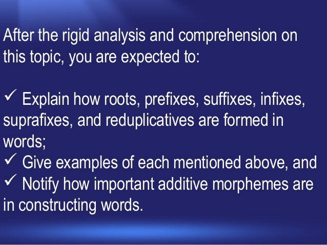 the importance of morphemic analysis in Vocabulary test, (b) a morphemic transfer-word and word-part test, and (c) a vocabulary and context test requiring morphemic analysis of word-part meanings in sentences.