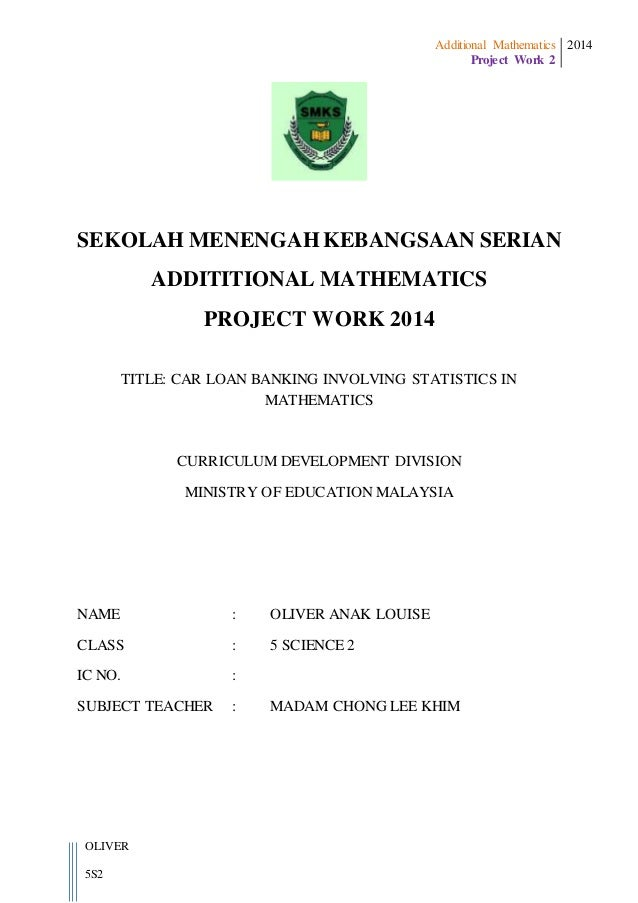 Additional Mathematics Project Work Form 5