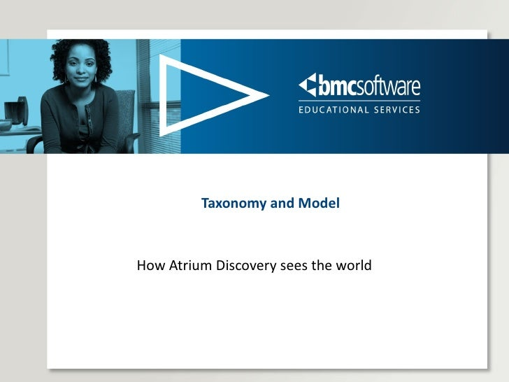 Taxonomy and Model How Atrium Discovery sees the world