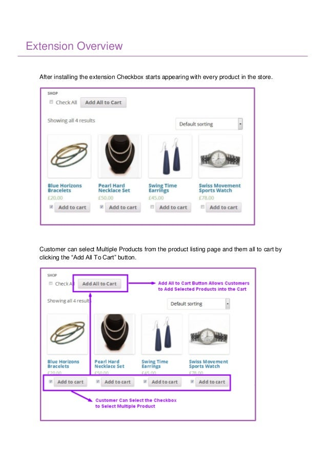 Add Multiple Products to Cart WooCommerce Extension