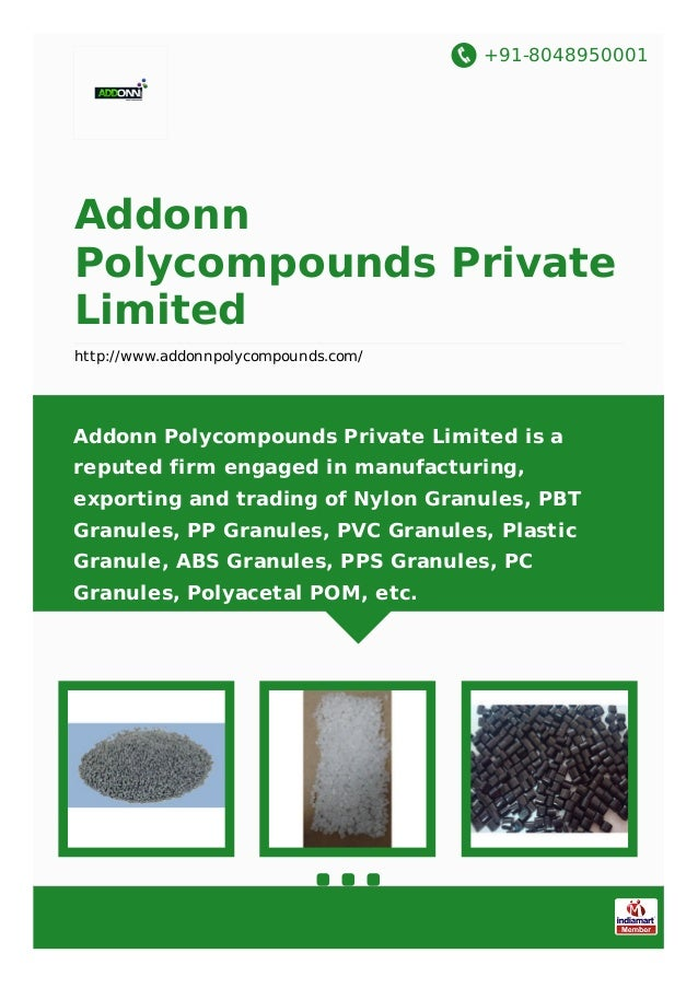 +91-8048950001 Addonn Polycompounds Private Limited http://www.addonnpolycompounds.com/ Addonn Polycompounds Private Limit...