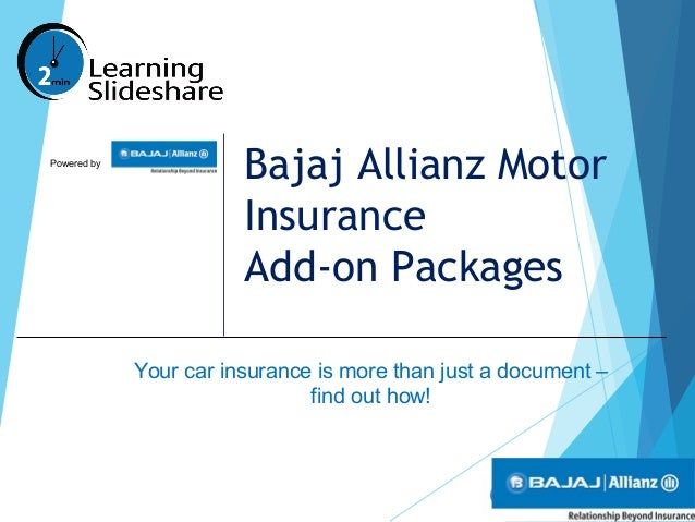 Bajaj Allianz Motor Insurance Add On Packages