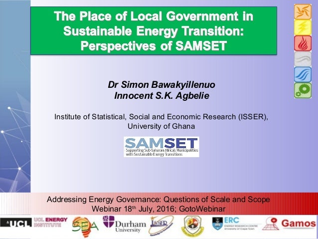 Dr Simon Bawakyillenuo Innocent S.K. Agbelie Institute of Statistical, Social and Economic Research (ISSER), University of...