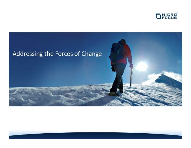 Addressing the Forces of Change