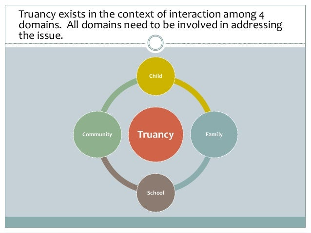 Truancy exists in the context of interaction among 4