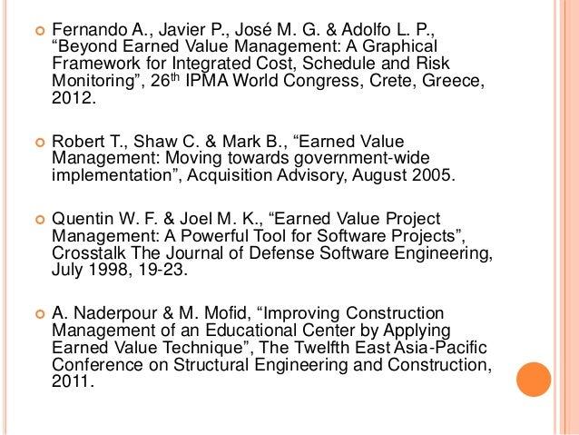 Earned Value Management (EVM) Limitations