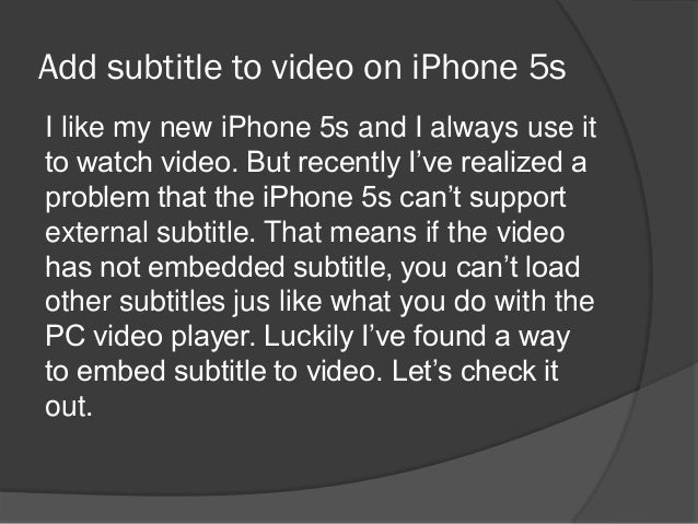 how to add subtitles to a video on iphone