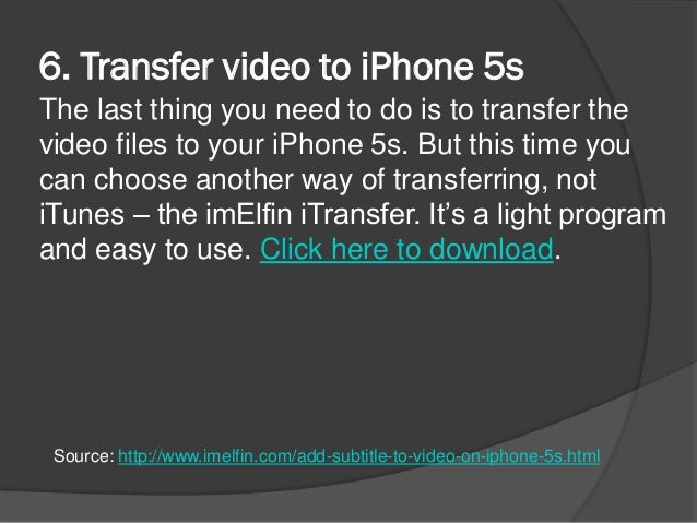 how to download subtitles in iphone