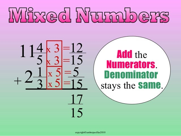 how to add mixed numbers
