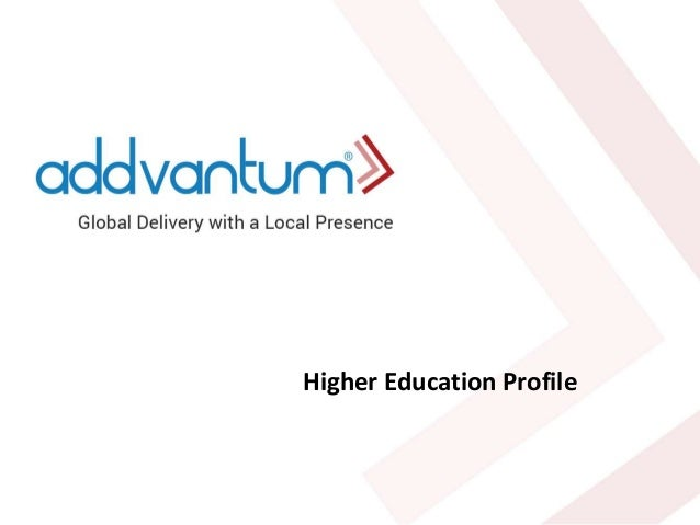 Higher Education Profile