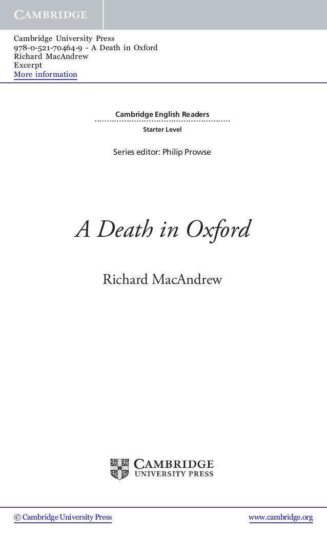 Cambridge English Readers ....................................................... Starter Level Series editor: Philip Prow...