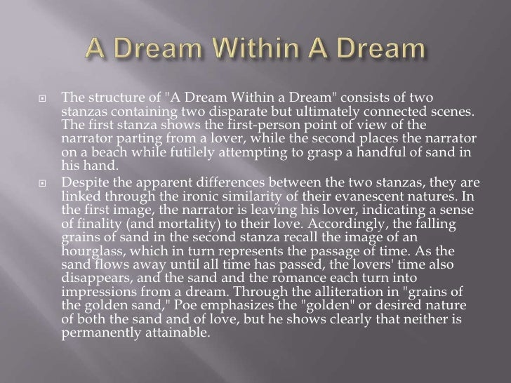 a dream within a dream analysis line by line