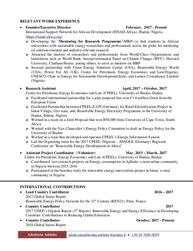 Amazing Energy Policy Resume Adornment - Administrative Officer ...