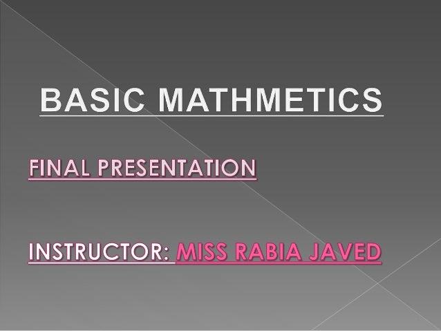 Basic Mathematics Slide 2