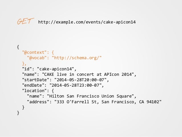 """http://example.com/events/cake-apicon14 { """"@context"""": { """"@vocab"""": """"http://schema.org/"""", """"performer"""": { """"@type"""": """"@id"""" }, """"..."""