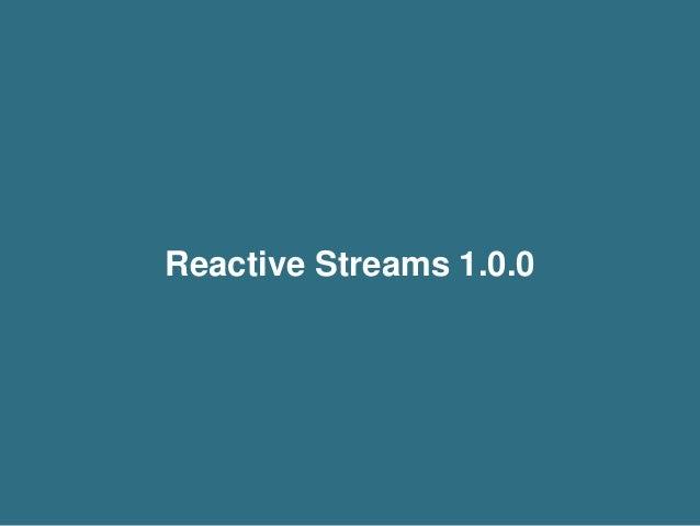 A Deeper Look Into Reactive Streams with Akka Streams 1.0 and Slick 3.0 Slide 3