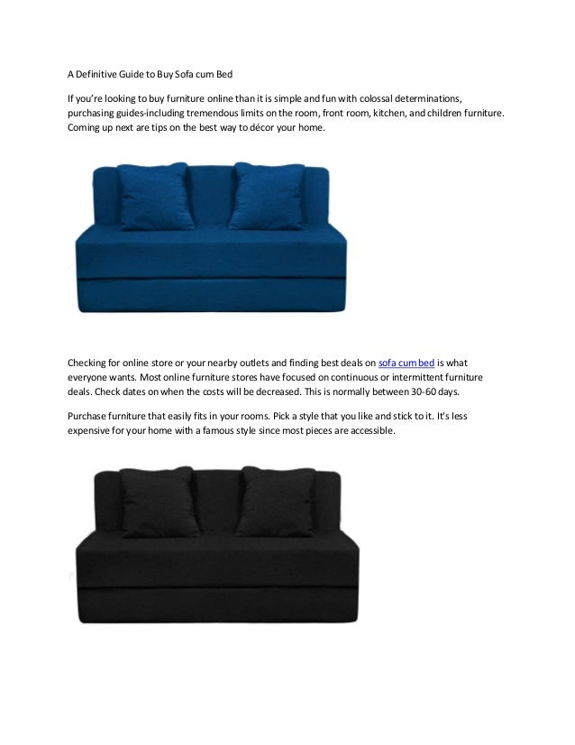 A Definitive Guide to Buy Sofa cum Bed