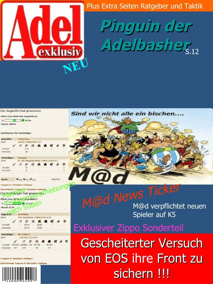 Plus Extra Seiten Ratgeber und Taktik                                Pinguin der                              AdelbasherS....