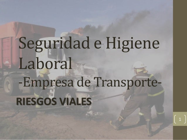 Seguridad e Higiene Laboral -Empresa de TransporteRIESGOS VIALES 1