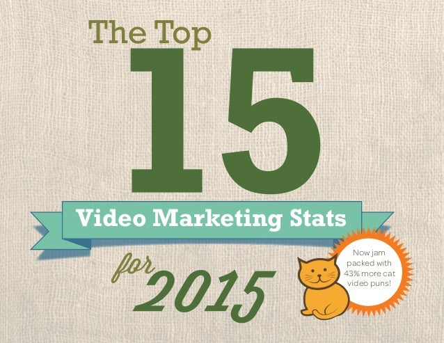 Video Marketing Stats for Now jam packed with 43% more cat video puns!