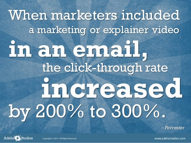 When marketers included – Forrester by 200% to 300%. increased the click-through rate in an email, a marketing or explaine...