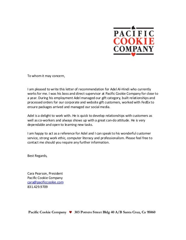 Adel letter of recommendation to whom it may concern i am pleased to write this letter of recommendation for negle Image collections