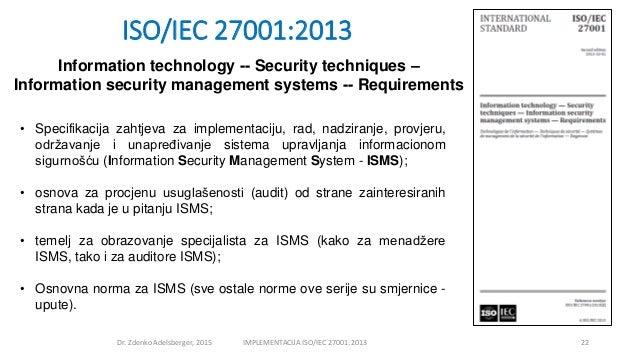 adelsberger zdenko implementacija iso27001 2013