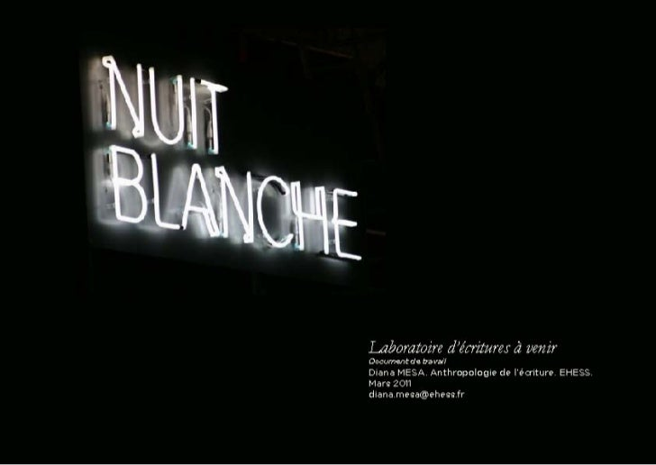 Œuvres présentées à la Nuit Blanche utilisant du texte (2002 - 2010)