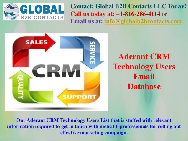 Contact: Global B2B Contacts LLC Today! Call us today at: +1-816-286-4114 or Email us at: info@globalb2bcontacts.com Our A...