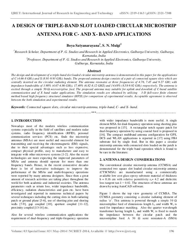 ieee research papers on antenna Call for papers the international workshop on antenna technology (iwat) is an annual forum for the exchange of information on the research and development in innovative antenna technologies it especially focuses on small antennas and applications of advanced and artificial materials to the antenna design.