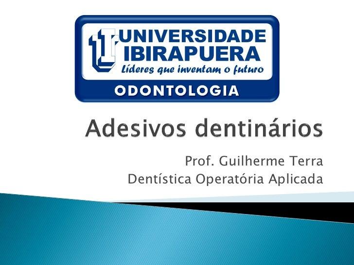 Prof. Guilherme TerraDentística Operatória Aplicada