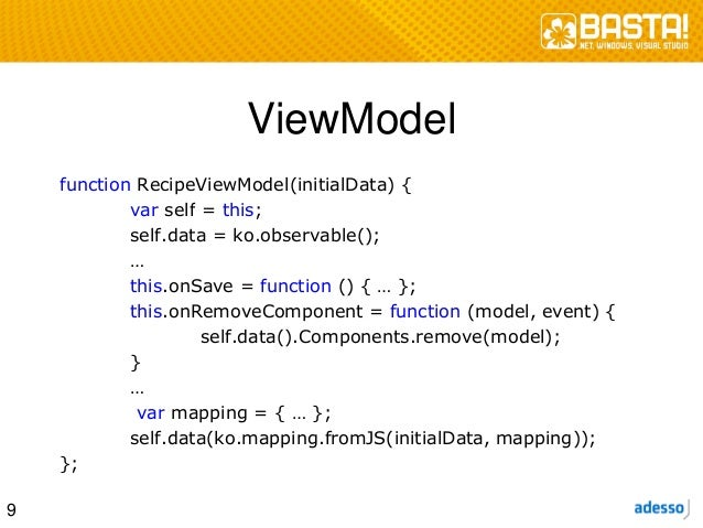 Wartbare Web-Anwendungen mit Knockout.js und Model-View-ViewModel (MV…