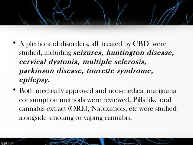 A Detailed Look at CBD's Effectiveness in Treating Neurological Disor…