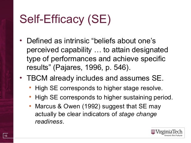 Perfect ... 16. Self Efficacy ...