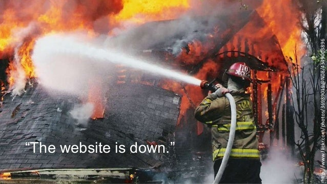 """http://www.flickr.com/photos/36989019@N08/4349003896  """"The website is down."""""""