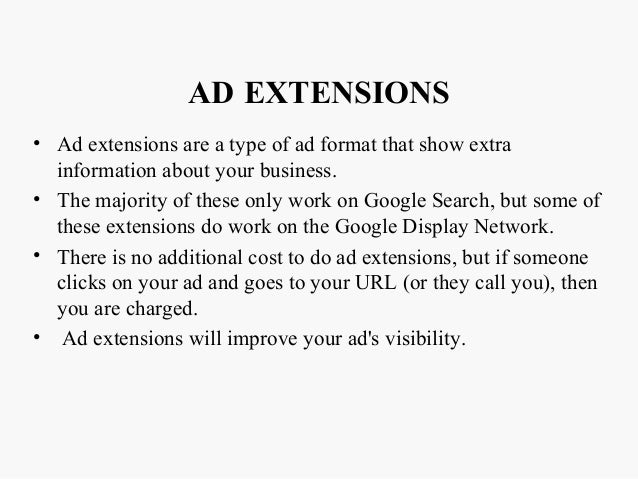 how to add ad extensions adwords