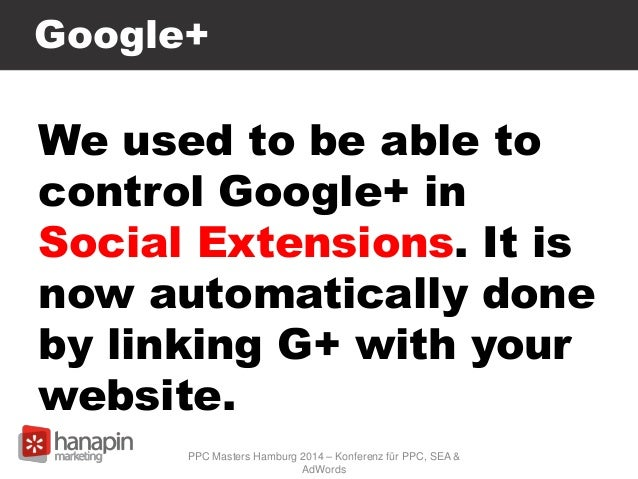 Google+ We used to be able to control Google+ in Social Extensions. It is now automatically done by linking G+ with your w...