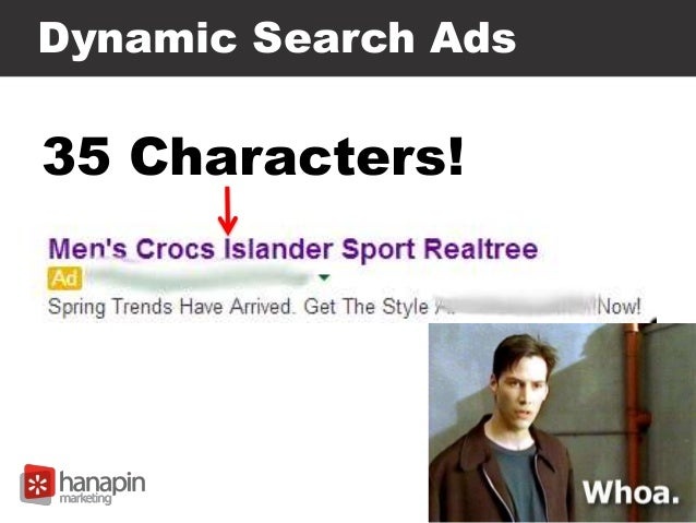 Dynamic Search Ads 35 Characters!
