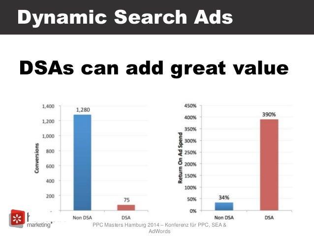 Dynamic Search Ads DSAs can add great value PPC Masters Hamburg 2014 – Konferenz für PPC, SEA & AdWords