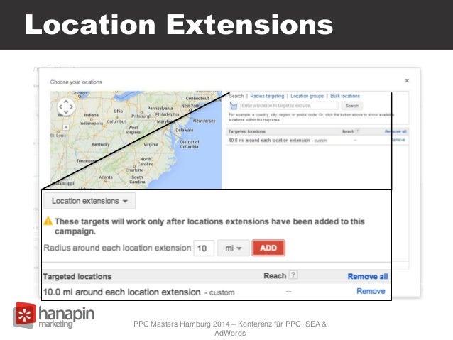 Location Extensions PPC Masters Hamburg 2014 – Konferenz für PPC, SEA & AdWords