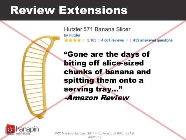 """Review Extensions PPC Masters Hamburg 2014 – Konferenz für PPC, SEA & AdWords """"Gone are the days of biting off slice-sized..."""