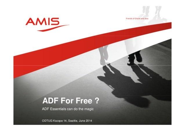 ADF Essentials (KScope14)