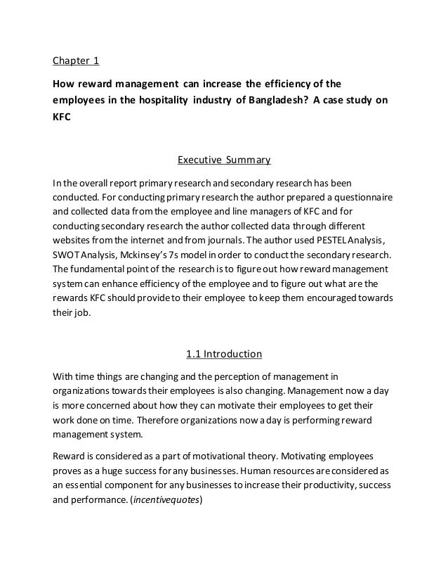 appendix for kfc report Marketing kfc assignment for later save related info  project report on kfc a report on kfc  (appendix a) includes scales for six different aspects of .
