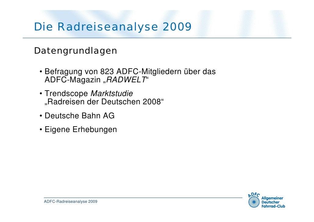 Radreiseanalyse 2009 Slide 3