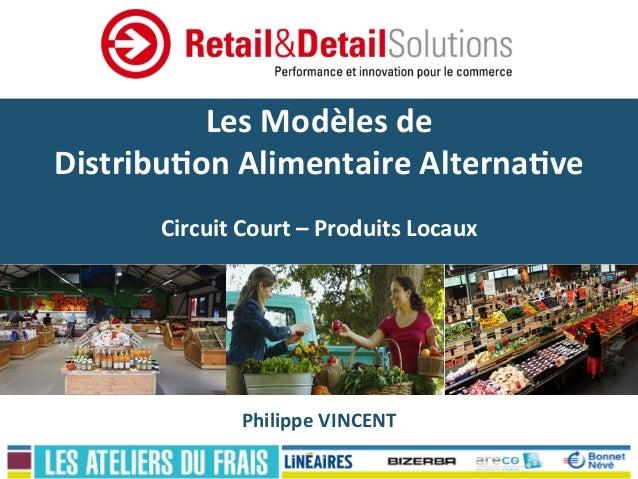 Les  Modèles  de     Distribu0on  Alimentaire  Alterna0ve      Circuit  Court  –  Produits  Locaux...