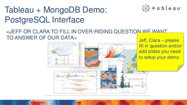 Tableau & MongoDB: Visual Analytics at the Speed of Thought