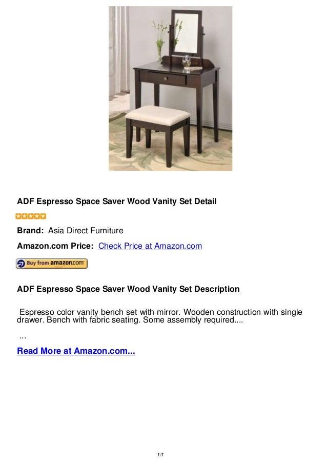 Adf Espresso Space Saver Wood Vanity Set