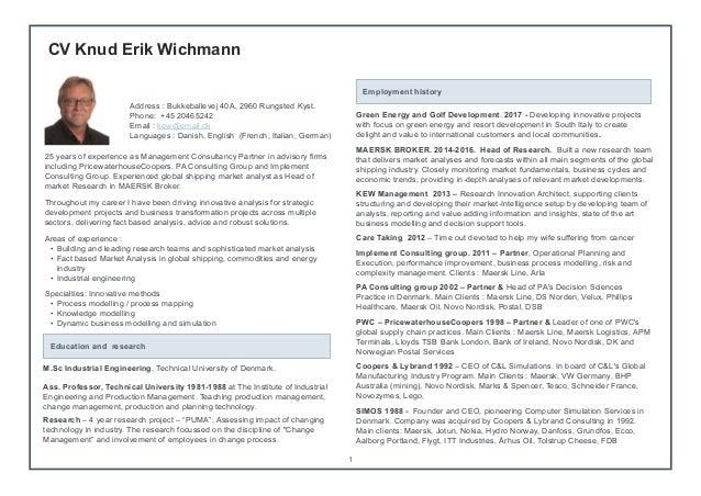 cv titel CV Knud Erik Wichmann 11.2016