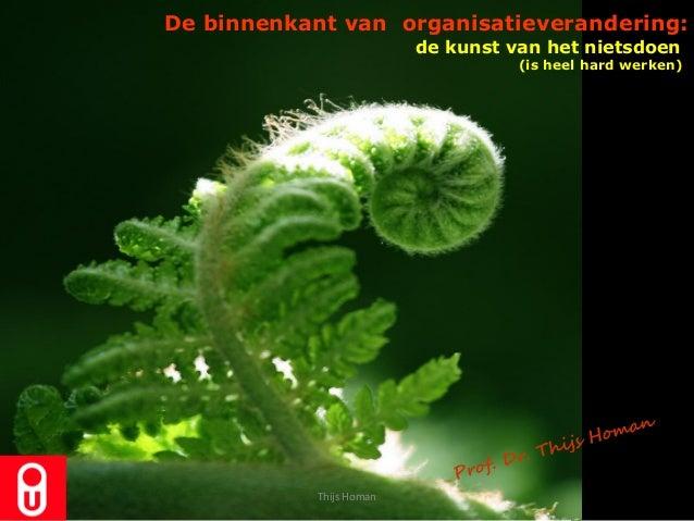 de kunst van het nietsdoen(is heel hard werken)De binnenkant van organisatieverandering:Thijs Homan