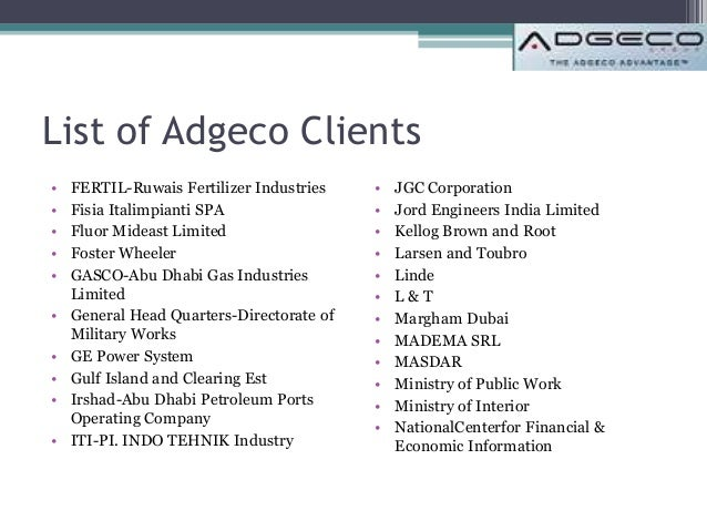 Adgeco clients